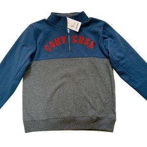 Converse 1/4 Zip Fleece Hoodie Pullover Size XL